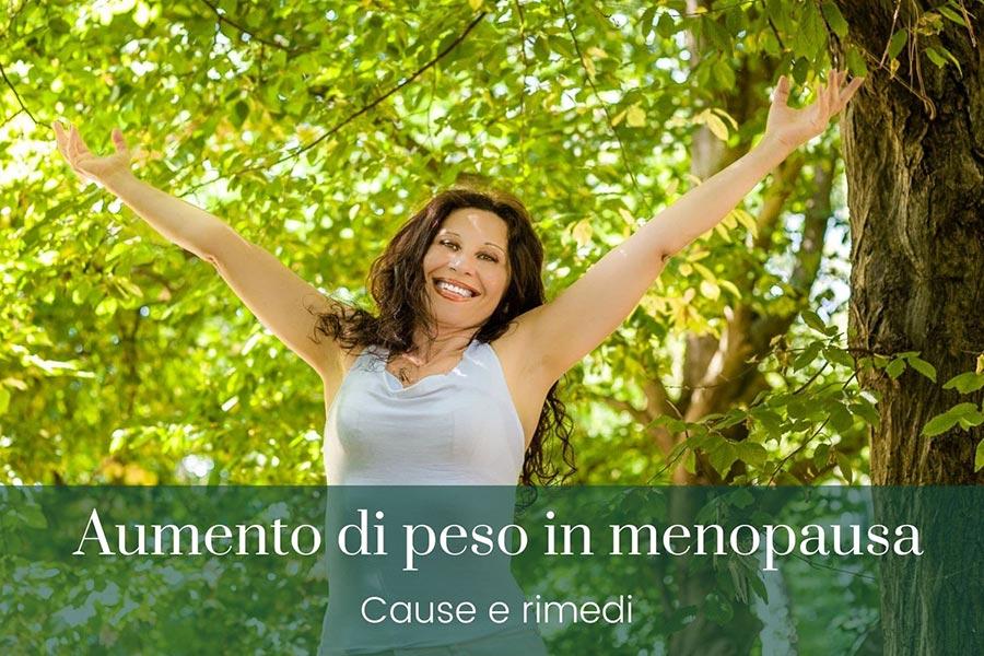 aumento di peso in menopausa